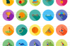 50 Sports Flat Long Shadow Icons example image 2