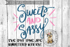 Sweet And Sassy, Hand lettered  - SVG cut file example image 1