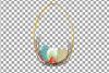 Easter golden watercolor floral frames, floral frames example image 11