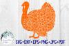 Turkey Floral Mandala, Animal Mandala SVG Cut File example image 2