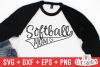 Softball Mom   SVG Cut File example image 1
