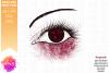 Burgundy Awareness Ribbon Eye - Printable Design example image 2