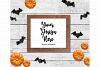 Fall Frame Mockup Bundle, Halloween Wood Sign Mock Up Set example image 5