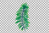 Tropical navy blue and green leaves and exotic flowers example image 16