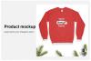 Christmas Sweatshirt Mockup / Gildan 18000 Red / Flat Lay example image 3