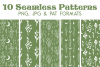 Floral Moon Seamless Pattern - Boho Digital Paper Pack example image 1