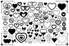 Simple Doodle Heart Clip Art Set example image 1