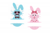 Split Easter Bunny SVG in SVG, DXF, PNG, JPG, EPS example image 3