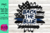 Thin Blue Line - Rustic Sunflower - Back The Blue - Police example image 1
