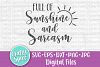 Full of Sunshine and Sarcasm SVG PNG DXF Cut File for Crafte example image 1