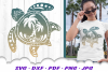 Palm Beach Summer Vibes Turtle SVG DXF Cut Files Bundle example image 2