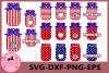 Mason Jar, 4th of July Svg, Fourth of July Mason Jar SVG example image 1