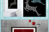Snowflake Reindeer SVG Dxf Eps Png Pdf Files For Cricut example image 4
