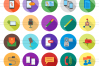 50 IT & Communication Flat Long Shadow Icons example image 2