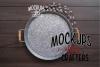 Round Metal Tray - Dollarama - MOCK-UP example image 1