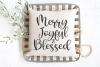 Christmas - Merry Joyful Blessed SVG example image 1