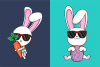 Funkie Bunny - SVG, EPS, DXF, PNG, example image 2