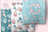 Cupcakes and Donuts Seamless Scrapbooking Papers 10 PNG file example image 10