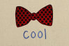 Cool Bow Tie Applique Embroidery Design example image 1