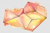 Crystals orange and green Watercolor png example image 2