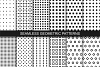 Seamless geometric patterns. B&W. example image 1