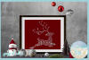Snowflake Reindeer SVG Dxf Eps Png Pdf Files For Cricut example image 2