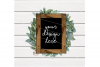 Single Black Wood Sign Mock Up   JPEG   PNG example image 2
