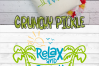 Relax and Enjoy the View Beach Hammock SVG Cut File example image 5