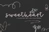 Sweetheart - A Handwritten Script Font & Doodles example image 1