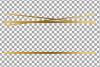 Elegant wedding geometric golden frames, lineal frames png example image 22