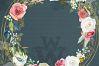 Watercolor rustic wedding bouquets clipart, vintage wreath example image 10
