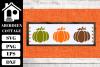 Pumpkin Trio SVG example image 1