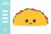 Kawaii Taco SVG DXF EPS PNG example image 1
