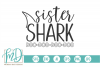 Sister Shark SVG example image 1