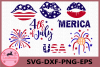 4th of July Svg, USA Svg Files, Fourth of July Monogram example image 1