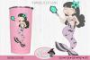 Mermaid with mirror tumbler design example image 1
