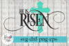Easter He Is Risen Cross SVG Cutting Files example image 1