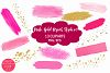 Pink and Gold Brush Strokes Clipart-Brush Strokes Clipart example image 1