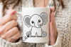 Elephant design SVG / DXF / EPS / PNG files example image 5