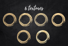 Gold and glitter circles for logo, Round gold dot, Roud gold example image 2