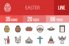 35 Easter Linear Multicolor Icons example image 1