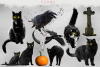 Halloween overlays, Pumpkin, Raven, Cat, Spider, Backdrop example image 10