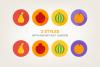 Round Fruits Icons example image 4