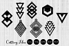 Geometric earrings | SVG cut files | Laser cutting | example image 1