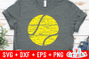 Distressed Tennis Ball | Tennis SVG Cut File example image 2