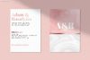 Pastel Marble Watercolor Rose Gold Foil Textures | 6 Pack example image 3