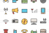 50 IT & Communication Linear Multicolor Icons example image 2