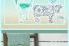 Cow Mandala Zentangle Mini Bundle Svg Dxf Eps Png Pdf Files example image 4