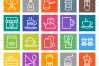 50 Coffee Shop Line Multicolor B/G Icons example image 2