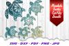 BIG Mandala Sea Turtle SVG DXF Cut Files Bundle example image 3